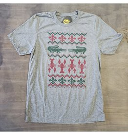 Cajun Christmas Sweater Mens Tee