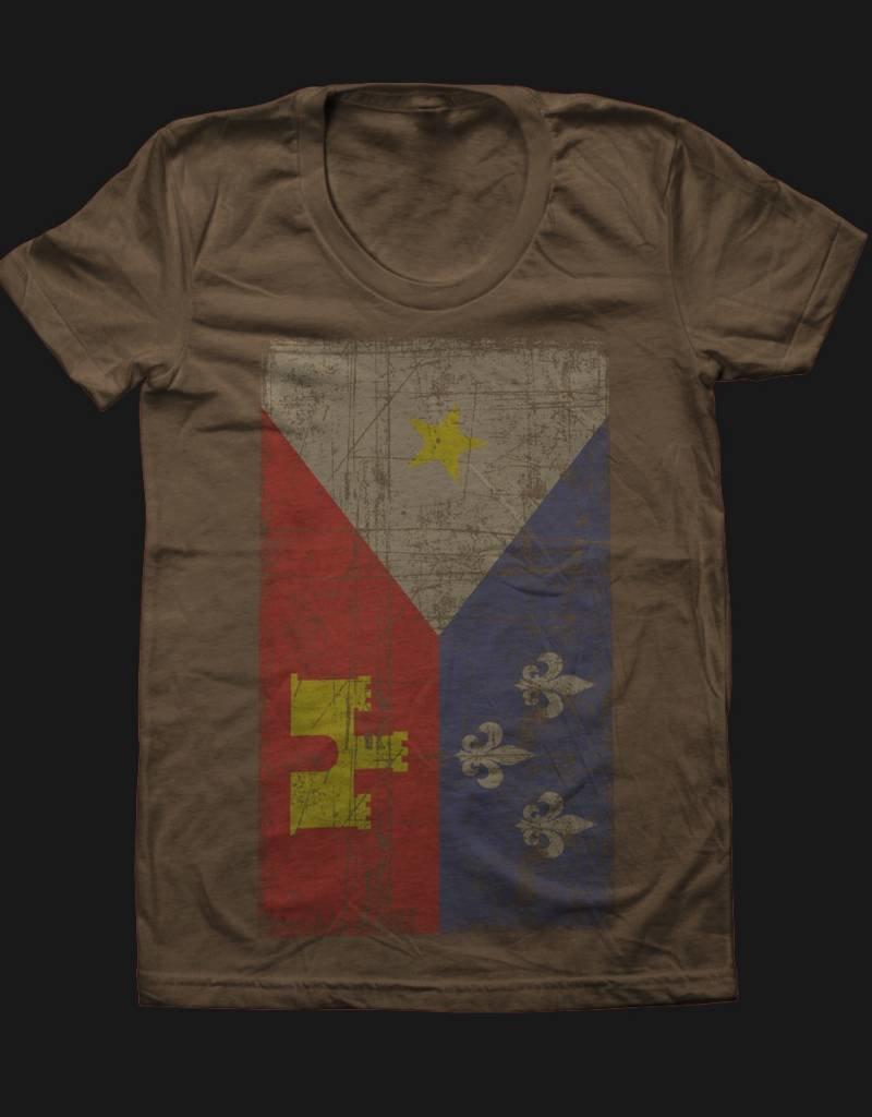 Acadian Flag Army Womens Tee