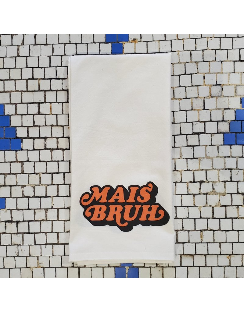 Retro Mais Bruh Tea Towel