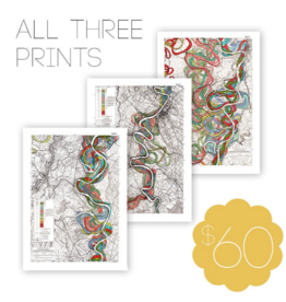 Meandering Mississippi River Print Bundle