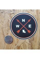 Louisiana Compass Sticker