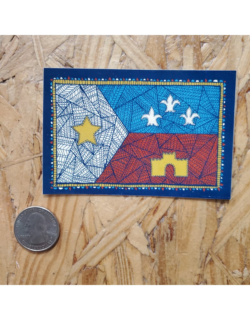 Patchwork Acadian Flag Sticker