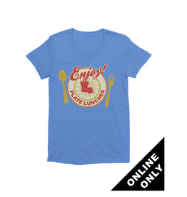 Enjoy Plate Lunches Womens Tee