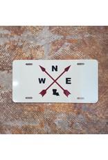 Compass License Plate - Cream