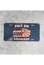 Fait en Louisiane License Plate