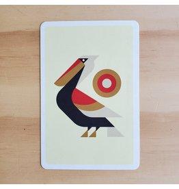 Perched Pelican Postcard