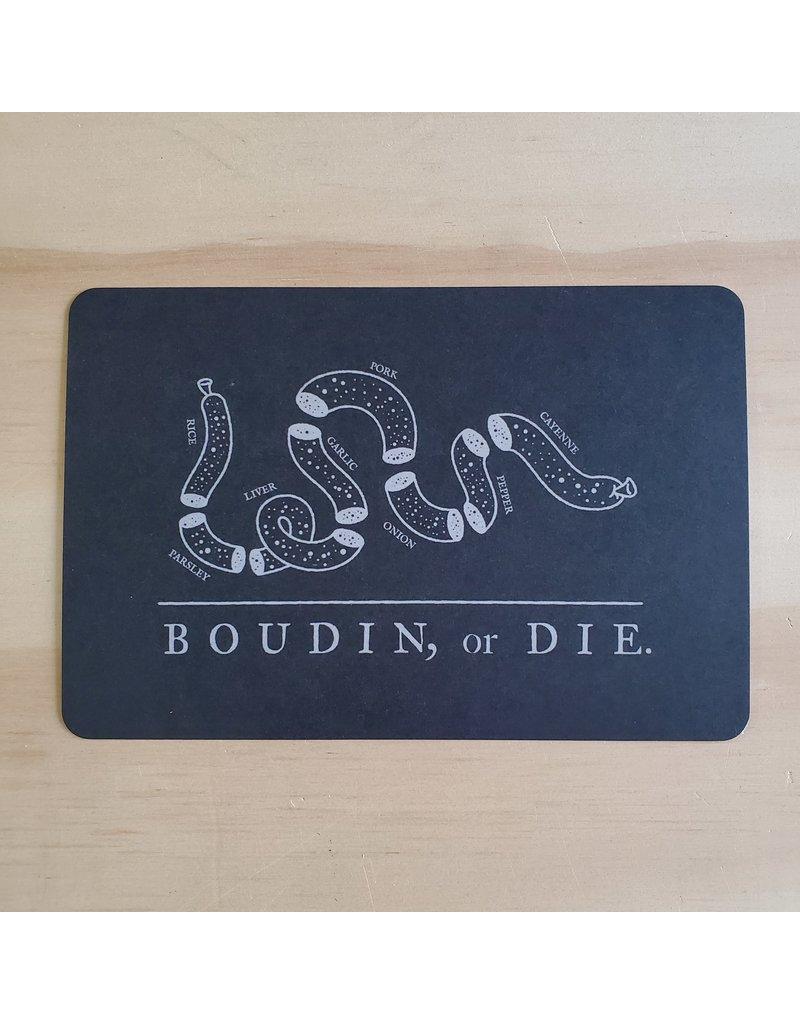 Boudin or Die Postcard