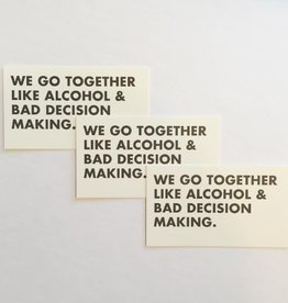Alcohol & Bad Decisions Mini Card