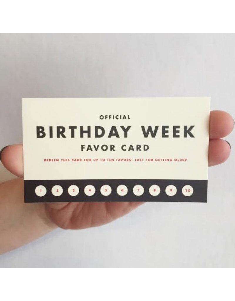 Favor: Birthday Week Mini Card
