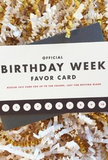 Favor: Birthday Week Mini Card