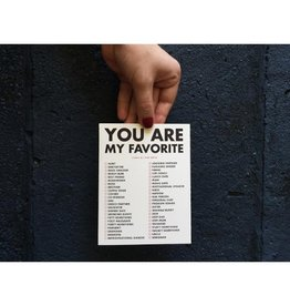 Favorite: Check All That Apply Greeting Card