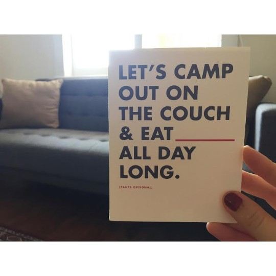 Let's Camp Out On The Couch Greeting Card