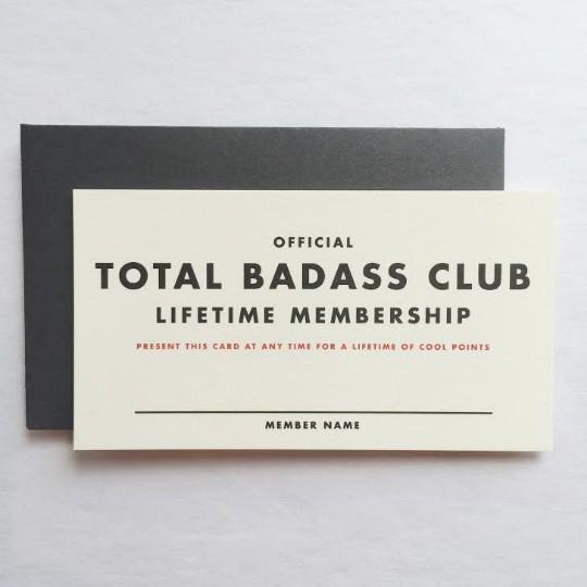 Membership: Badass Mini Card