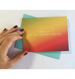 Newsflash: Freaking Amazing Greeting Card
