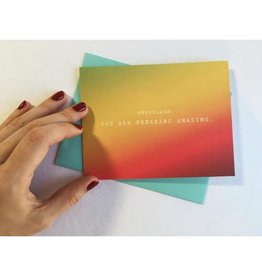 Newsflash: Freaking Amazing Greeting Card