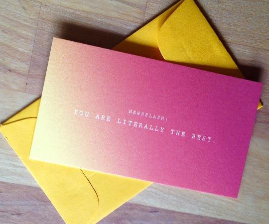 Newsflash: LITERALLY THE BEST Mini Card