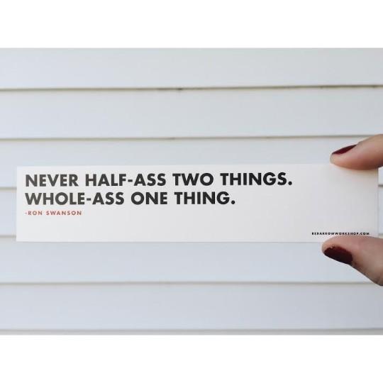 Half-Ass Bookmark