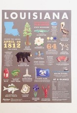 Louisiana State Symbols Art Print