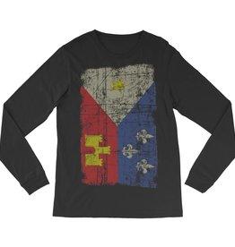 Acadian Flag Mens LS Tee