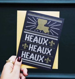 Heaux Heaux Heaux Black and Gold Greeting Card