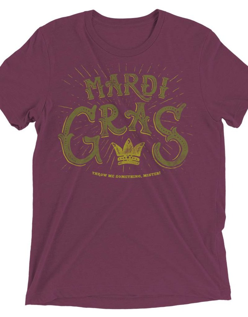 Mardi Gras Crown Mens Tee