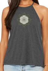 Flowy High Neck Magnolia Womens Tank
