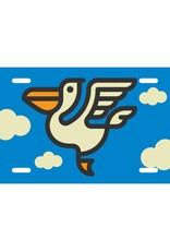 Pelican Icon License Plate