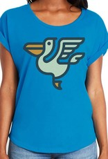 Pelican Icon Dolman with Rolled Sleeves Womens Tee
