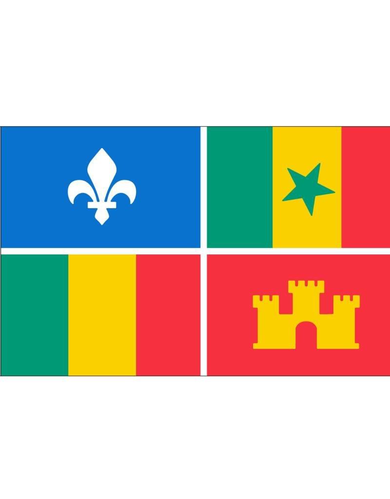 3X5 Creole Flag