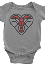Crawfish Heart Baby Onesie