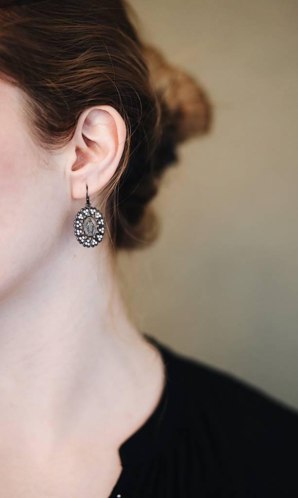 Bringing Her Home Earrings-gm-white opal