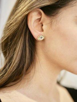 Eye of Fatima Post Earrings-sg-clear