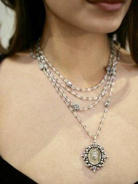 Sacred Heart Crystal 4mm Magdalena bs-black diamond ab-clear