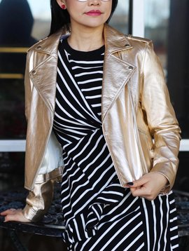 Generation Love Leather Moto Jacket W/Buckles