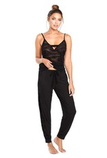 Cosabella Powerhouse Cami an Jogger Set black with sheer - Cosabella