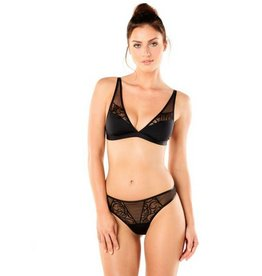Cosabella Bisou Thong with lace detail - cosabella