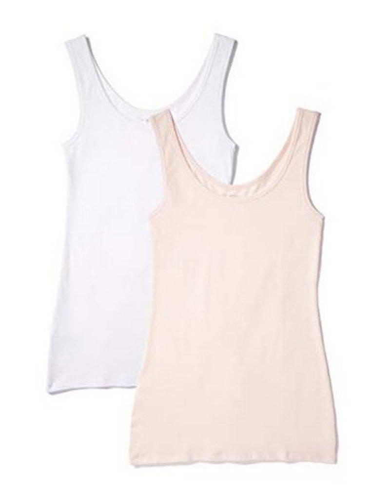 Soft Stretch Cotton Tank Top - Blush Large