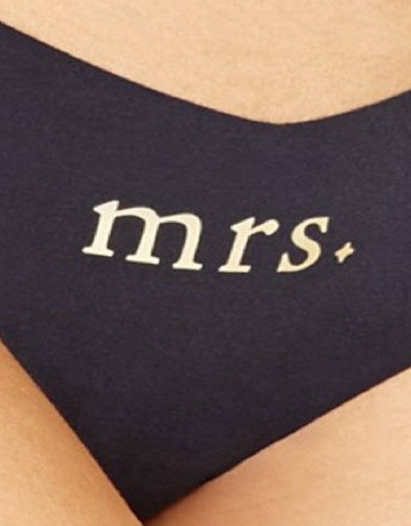 "Commando Commando Applique Thong - ""Mrs"""