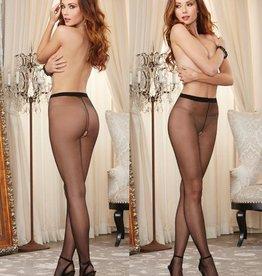 DreamGirl DreamGirl Hosiery - Crotchless Sheer Pantyhose Black 0082