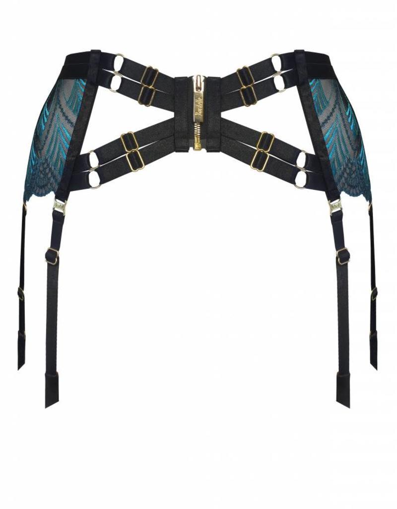 Bordelle Kizette Longline Suspender Garter Belt - Bordelle