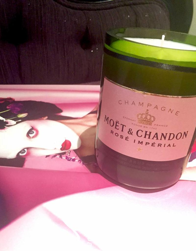 """Under the Influence Candles Moet and Chandon Rose - """"Dim the Lights"""" - Candles Under The Influence"""