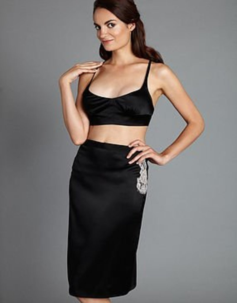 The Giving Bride Silk Pencil Skirt with Keyhole - The Giving Bride