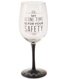 Alone Time - Wine Glass/tea light Holder - pavilion