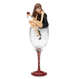 Hiccup More Wine Please - 12.75 Birthday Girl In Glass