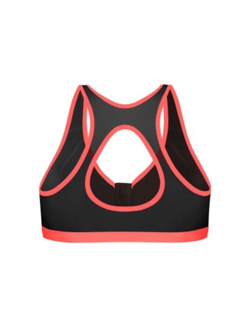 Shock Absorber Sports Bra - active zipped plunge - Shock Absorber