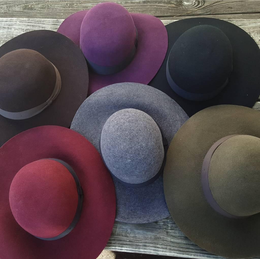 Carlos Hat Womens Floppy Wool Hat