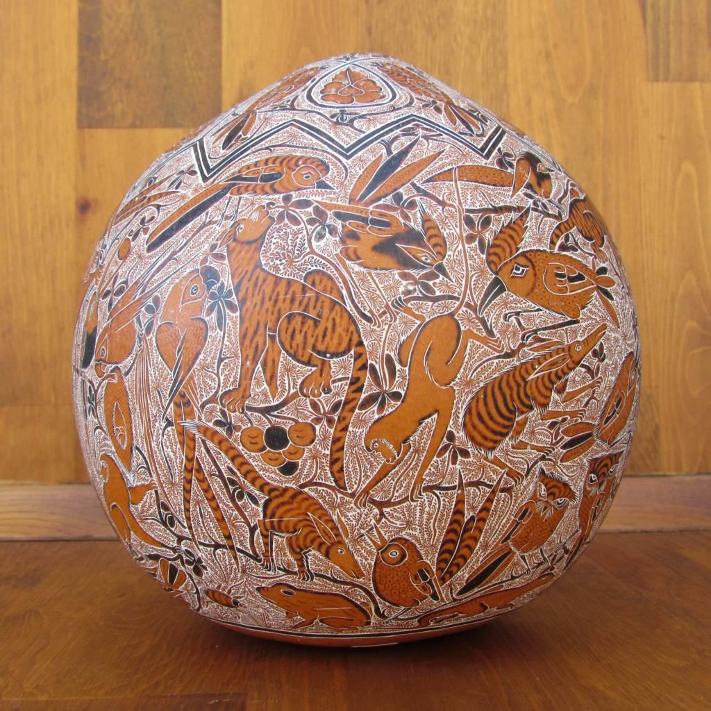Pedro Osores Large Quemado Animal Gourd
