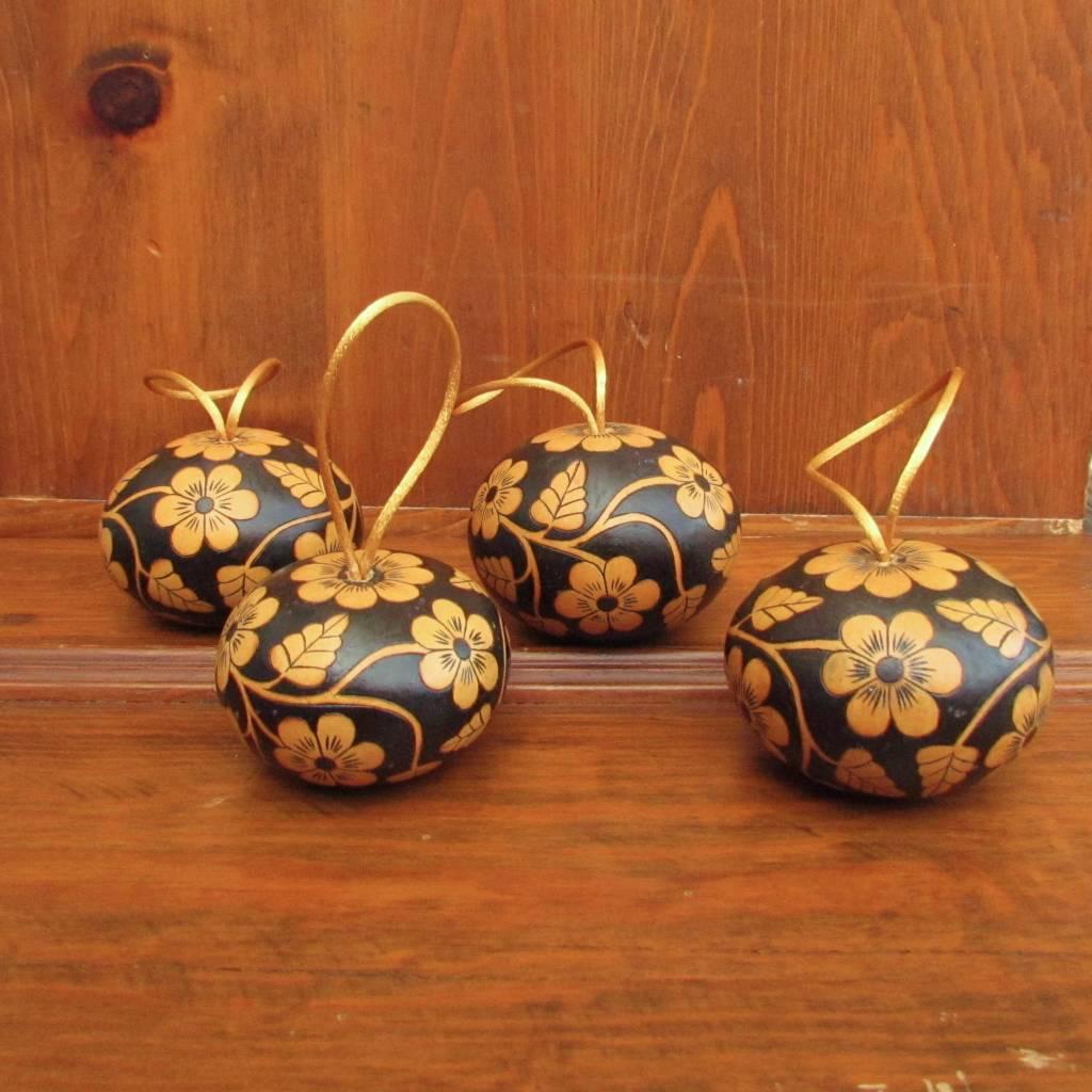 Pedro Osores Floral Gourd Ornament