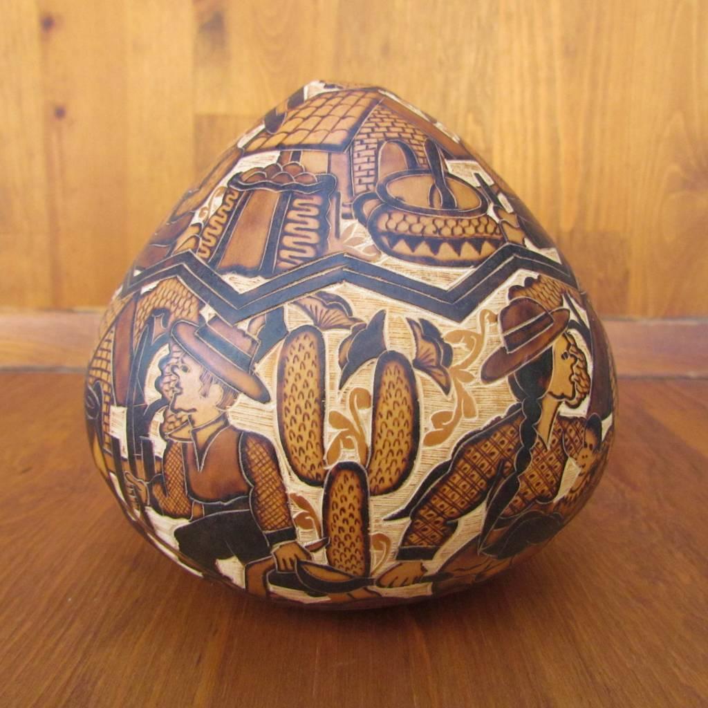 Pedro Osores Quemado Feast Gourd