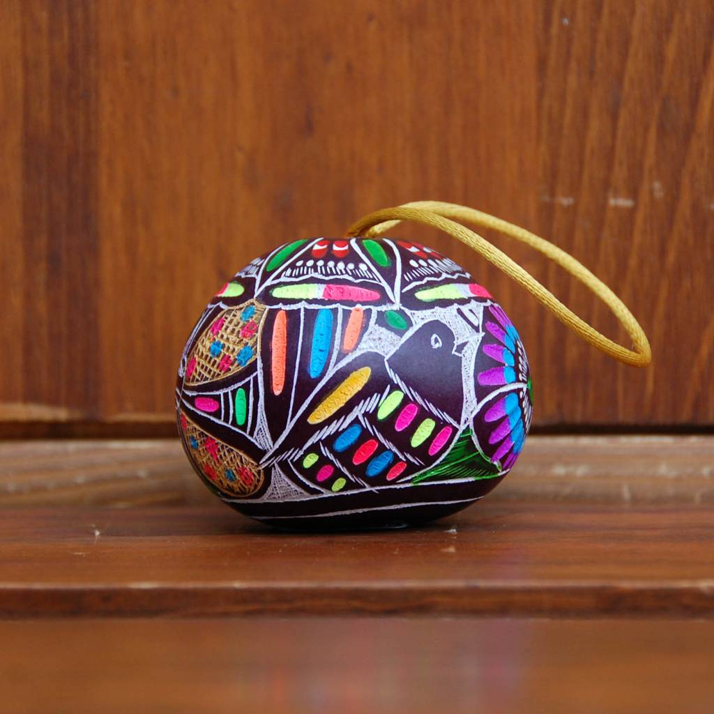 Pedro Osores Painted Gourd Ornament